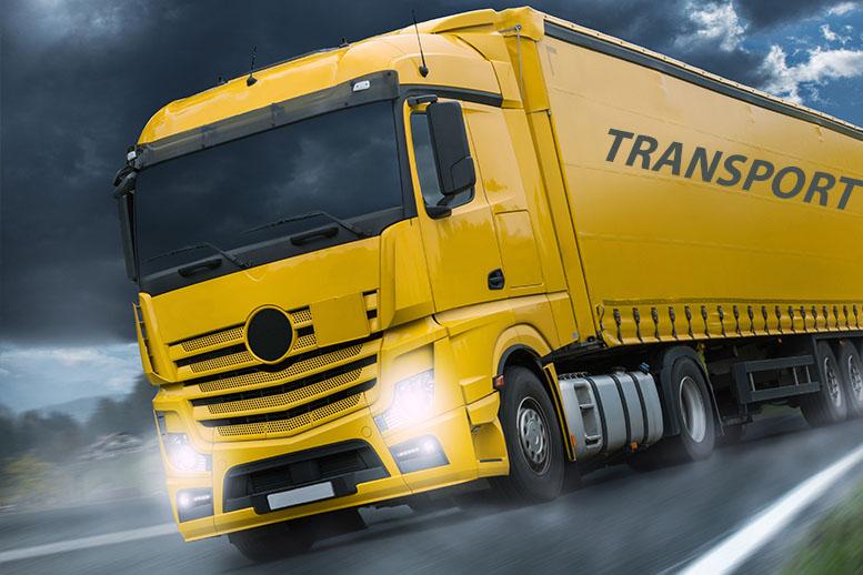 transport camion jaune